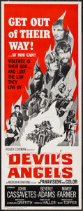 "Movie Posters:Exploitation, Devil's Angels (American International, 1967). Insert (14"" X 36"").Exploitation.. ..."