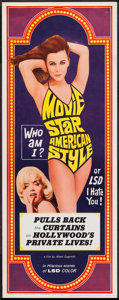 """Movie Posters:Exploitation, Movie Star, American Style or; LSD, I Hate You (Famous Players Corp., 1966). Insert (14"""" X 36""""). Exploitation.. ..."""