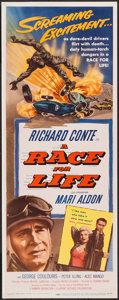 "Movie Posters:Sports, A Race for Life (Lippert, 1954). Insert (14"" X 36""). Sports.. ..."