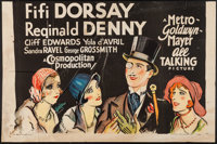 "Those Three French Girls (MGM, 1930). Partial Three Sheet (41"" X 27""). Musical Comedy"