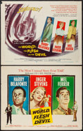 """Movie Posters:Science Fiction, The World, The Flesh and the Devil (MGM, 1959). Half Sheets (2) (22"""" X 28"""") Styles A & B. Science Fiction.. ... (Total: 2 Items)"""