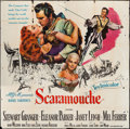 "Movie Posters:Swashbuckler, Scaramouche (MGM, 1952). Six Sheet (78"" X 79""). Swashbuckler.. ..."