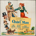 "Movie Posters:Drama, The Quiet Man (Republic, 1952). Six Sheet (81"" X 81""). Drama.. ..."