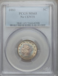 Liberty Nickels: , 1883 5C No Cents MS65 PCGS. PCGS Population (1399/383). NGC Census:(1851/533). Mintage: 5,479,519. Numismedia Wsl. Price f...