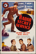 "Movie Posters:Adventure, Radar Secret Service (Lippert, 1950). One Sheet (27"" X 41"").Adventure.. ..."