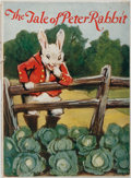 Books:Children's Books, Beatrix Potter. The Tale of Peter Rabbit. Ohio: Saalfield,1928. Large quarto. Publisher's printed wrappers. Front a...
