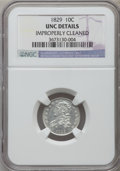 Bust Dimes: , 1829 10C Small 10C -- Improperly Cleaned -- NGC Details. Unc. NGCCensus: (0/172). PCGS Population (4/119). Mintage: 770,00...
