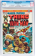 Bronze Age (1970-1979):Superhero, Marvel Feature #12 Thing and Iron Man (Marvel, 1973) CGC NM- 9.2 White pages....