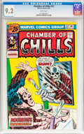 Bronze Age (1970-1979):Horror, Chamber of Chills #22 (Marvel, 1976) CGC NM- 9.2 White pages....
