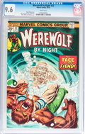 Bronze Age (1970-1979):Horror, Werewolf by Night #22 (Marvel, 1974) CGC NM+ 9.6 White pages....