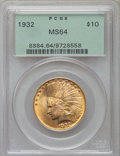 Indian Eagles: , 1932 $10 MS64 PCGS. PCGS Population (9060/1275). NGC Census:(11603/2555). Mintage: 4,463,000. Numismedia Wsl. Price for pr...