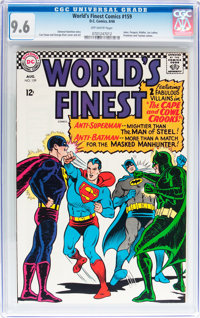 World's Finest Comics #159 (DC, 1966) CGC NM+ 9.6 Off-white pages