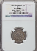 Early Dimes, 1805 10C 4 Berries -- Reverse Scratched -- NGC Details. XF. JR-2,R.2....