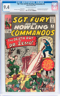 Sgt. Fury and His Howling Commandos #8 (Marvel, 1964) CGC NM 9.4 Off-white to white pages