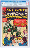 Silver Age (1956-1969):War, Sgt. Fury and His Howling Commandos #4 (Marvel, 1963) CGC NM- 9.2 Off-white pages....