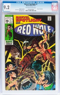 Marvel Spotlight #1 Red Wolf (Marvel, 1971) CGC NM- 9.2 Off-white to white pages