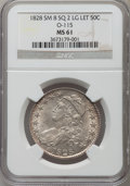 Bust Half Dollars, 1828 50C Square Base 2, Small 8, Large Letters MS61 NGC. O-115,R.2....