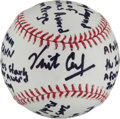 "Autographs:Baseballs, Vint Cerf ""Father Of Modern Internet"" Single Signed Baseball WithLengthy Inscription...."