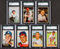 Baseball Cards:Autographs, Signed 1950's Topps & Bowman Baseball SGC Authentic Group of (7) With HoFers. ...