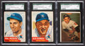 Autographs:Sports Cards, Signed 1952 Topps & Bowman New York Yankees Stars & HoFersSGC Trio (3). ...