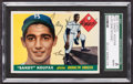 Autographs:Sports Cards, Signed 1955 Topps Sandy Koufax Rookie #123 SGC Authentic. ...