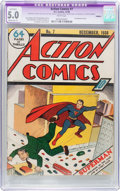 Golden Age (1938-1955):Superhero, Action Comics #7 Trimmed (DC, 1938) CGC Apparent VG/FN 5.0 Moderate (P) White pages....