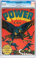Golden Age (1938-1955):Superhero, Power Comics #4 (Holyoke Publications, 1945) CGC FN 6.0 Off-white to white pages....