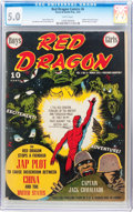Golden Age (1938-1955):War, Red Dragon Comics #6 (Street & Smith, 1943) CGC VG/FN 5.0 Whitepages....