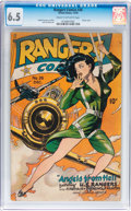 Golden Age (1938-1955):War, Rangers Comics #26 (Fiction House, 1945) CGC FN+ 6.5 Cream tooff-white pages....