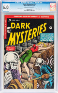 Golden Age (1938-1955):Horror, Dark Mysteries #19 (Master Publications, 1954) CGC FN 6.0 Cream tooff-white pages....