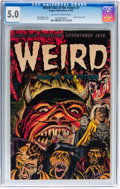 Golden Age (1938-1955):Horror, Weird Tales of the Future #7 (Aragon, 1953) CGC VG/FN 5.0 Off-whiteto white pages....