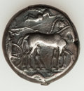 Ancients:Greek, Ancients: SICILY. Syracuse. Second Democracy. Ca. 466-406 BC. ARtetradrachm (17.17 gm). ...