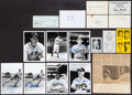 Autographs:Photos, Baseball Greats Signed Photographs, Checks and Index Cards Lot of15. ...