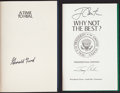Miscellaneous Collectibles:General, Gerald Ford and Jimmy Carter Signed Hardcover Books Lot of 2....