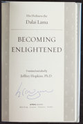 "Miscellaneous Collectibles:General, Dalai Lama Signed ""Becoming Enlightened"" Hardcover Book...."
