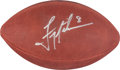Football Collectibles:Balls, Troy Aikman Signed Leather NFL Football....