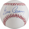 Miscellaneous Collectibles:General, Gene Cernam Single Signed Baseball - Last Man on the Moon....