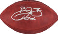 Football Collectibles:Balls, Emmitt Smith Signed Leather NFL Football....
