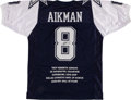 Football Collectibles:Uniforms, Troy Aikman Signed Dallas Cowboys Jersey....