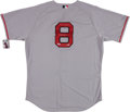 Baseball Collectibles:Uniforms, Carl Yastrzemski Signed, Inscribed Boston Red Sox Jersey....