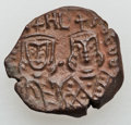 Ancients:Byzantine, Ancients: Michael II the Amorian (AD 820-829) with Theophilus. Æfollis (4.36 gm). Byzantine.,...