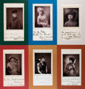 Books:Prints & Leaves, Group of Six Photographic Portraits of Late Nineteenth CenturyActresses. Pasted to paper with reproduction signatures and l...