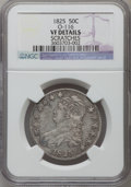 Bust Half Dollars, 1825 50C -- Scratches -- NGC Details. VF. O-116. NGC Census:(16/1067). PCGS Population (9/1271). Mintage: 2,900,000. Numis...