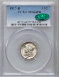 1917-D 10C MS64 Full Bands PCGS. CAC....(PCGS# 4913)