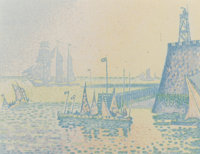 PAUL SIGNAC (French, 1863-1935) Abend, Pan IV I, 1898 Lithograph 8-1/8 x 10-3/8 inches (20.6 x 26