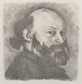 Fine Art - Work on Paper:Print, EDOUARD VUILLARD (French, 1868-1940). Portrait de Cézanne,1914. Lithograph. 10-3/8 x 10 inches (26.4 x 25.4 cm) (sight)...