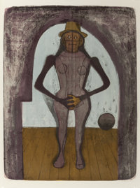 RUFINO TAMAYO (Mexican, 1899-1991) Femme au collant rose, from Mujeres suite, 1969 Color