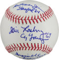 Autographs:Baseballs, Jim Lonborg Single Signed Baseball With Lengthy Inscription....