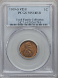 1909-S VDB 1C MS64 Red and Brown PCGS....(PCGS# 2427)