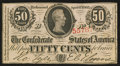 Confederate Notes:1863 Issues, T63 50 Cents 1863 PF-2 Cr. UNL.. ...
